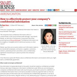 How to effectively protect your company's confidential information - Smart Business Magazine