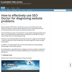 How to effectively use SEO Doctor for diagnosing website problems