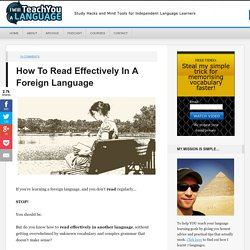 How To Read Effectively In A Foreign Language