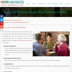 Learn to Effectively Manage Your Healthcare Finances