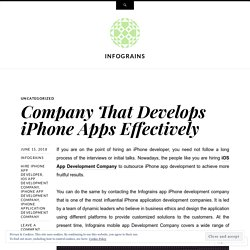 Company That Develops iPhone Apps Effectively