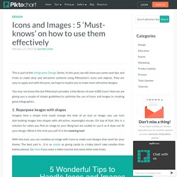 Icons and Images : 5 'Must-knows' on how to use them effectively