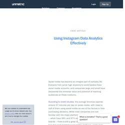 Using Instagram Data Analytics Effectively - Social Media Interviews, Infographics & Reports