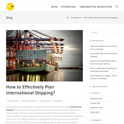 How to Effectively Plan International Shipping?