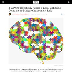 3 Ways to Effectively Assess a Legal Cannabis Company to Mitigate Investment Risk - Impact Wealth