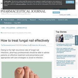 How to treat fungal nail effectively