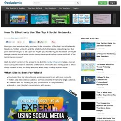 Effectively Use The Top 4 Social Networks