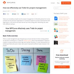 How we effectively use Trello for project management