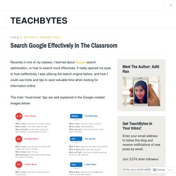 Search Google Effectively In The Classroom – TeachBytes