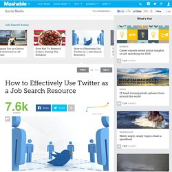 How to Effectively Use Twitter as a Job Search Resource