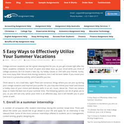 5 Easy Ways to Effectively Utilize Your Summer Vacations