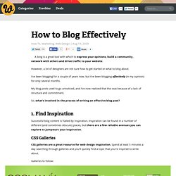 How to Blog Effectively