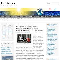 La France a effectivement falsifié les listes d'évadés fiscaux d'HSBC