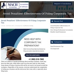 Avoid Penalties! Effectiveness Of Filing Corporate Tax