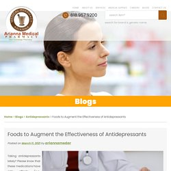 Foods to Augment the Effectiveness of Antidepressants