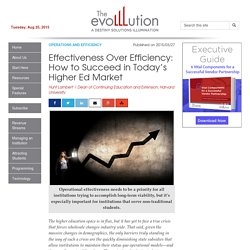Effectiveness Over Efficiency: How to Succeed in Today's Higher Ed Market