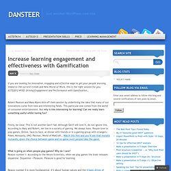 Increase learning engagement and effectiveness with Gamification