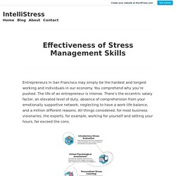 Effectiveness of Stress Management Skills