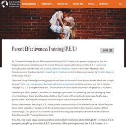 Parent Effectiveness Training (P.E.T.) - Gordon Training International