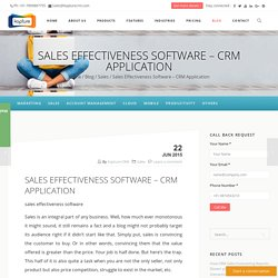 Sales Effectiveness Software