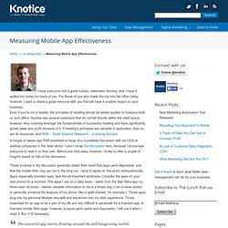 Measuring Mobile App Effectiveness « The Lunch Pail