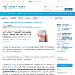 Effectiveness of probiotics in those with IBS - Gut Microbiota for Health