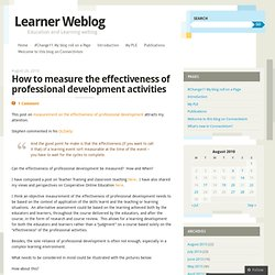 How to measure the effectiveness of professional development activities