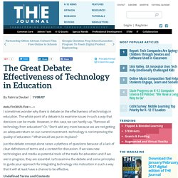 The Great Debate: Effectiveness of Technology in Education