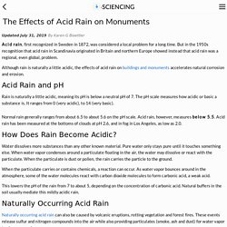The Effects of Acid Rain on Monuments