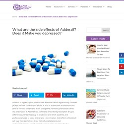 Side effects of Adderall? Does it makes you Depression