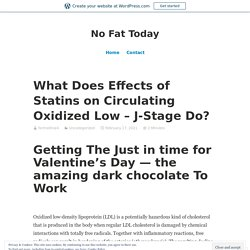 What Does Effects of Statins on Circulating Oxidized Low – J-Stage Do? – No Fat Today