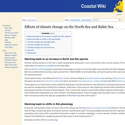 MARBEF 23/10/13 Effects of climate change on the North Sea and Baltic Sea