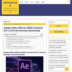 Adobe After Effects 2020 Cracked v17.1.1.34 Full Version Download
