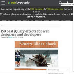 jQuery effects, 150+ best for web developers and designers