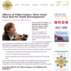 the impact of video games on youngsters A new study on the impact of video games determines whether both the navigation strategy that players use and the genre of game they choose play a role in determining if playing the game will be beneficial or detrimental to the user.