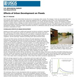 Effects of Urban Development on Floods