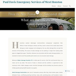 What are the effects of water damage? – Paul Davis Emergency Services of West Houston