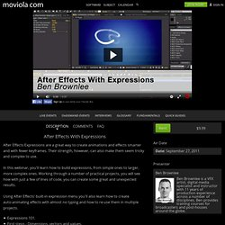 After Effects With Expressions - FilmmakingWebinars.com