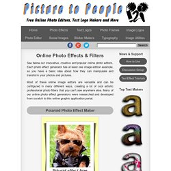 Online Photo Effects & Filters - Free cool photo effect generators
