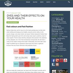 Dyes and their effects on your health - Trusted Clothes