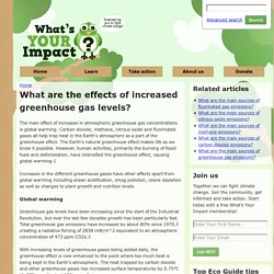 What are the effects of increased greenhouse gas levels?