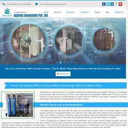 Know The Health Effects Of Iron Before Installing A Mineral Water Plant