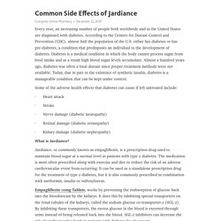 Common Side Effects of Jardiance – Telegraph