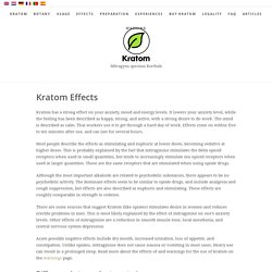 Effects - Kratom