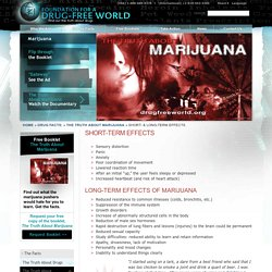 Short- & Long-Term Effects of Marijuana - Negative Side Effects of Weed - Drug-Free World