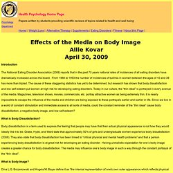 Effects of Media on Body Image - Allie Kovar