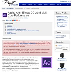 Adobe After Effects CC 2015 Multi Core Performance - Puget Custom Computers