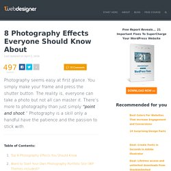 8 Effects Every Photographer Should Know About - StumbleUpon