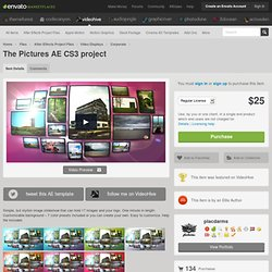 Project Files - The Pictures AE CS3 project - VideoHive