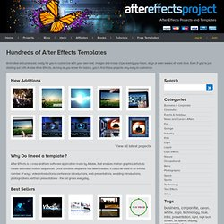 After Effects Projects and Templates